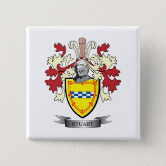 Stuart Family Crest Coat of Arms 15 Cm Square Badge