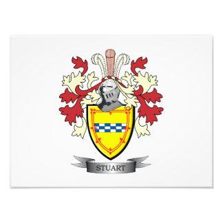 Stuart Family Crest Coat of Arms Photograph