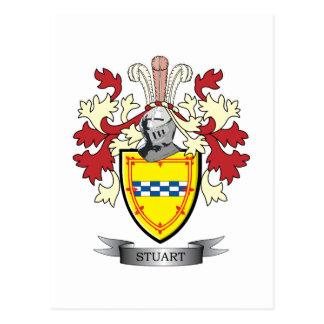 Stuart Family Crest Coat of Arms Postcard