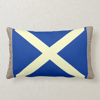 Stuart Tartan Scottish Saltire Cushion