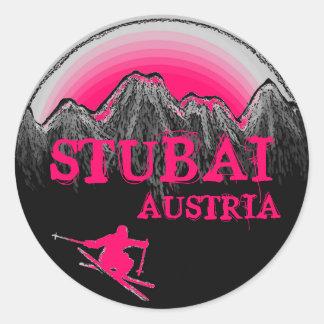 Stubai Austria pink ski stickers