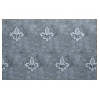 Stubborn Craft | Denim Blue Fleur Lis Butterfly Fabric