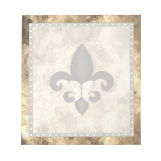 Stubborn Office | Sepia Brown Butterfly Fleur Lis Notepad