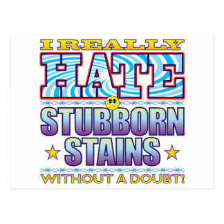 Stubborn Stains Hate Face Postcard