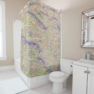 Stucco Green Sea Shower Curtain