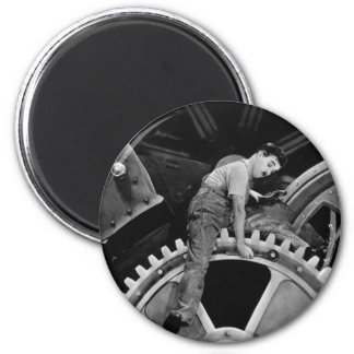 Stuck inTraffic 6 Cm Round Magnet