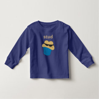 Stud Muffin Blue Boys Long Sleeve Shirts