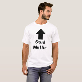 """Stud Muffin"" Men's White T-Shirt"