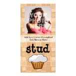 Stud Muffin Personalised Photo Card