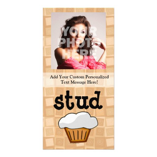 Stud Muffin Personalized Photo Card