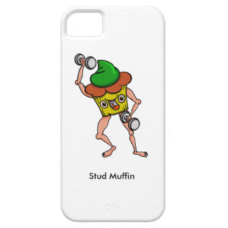 Stud Muffin Posing With Dumbbells iPhone 5 Cases
