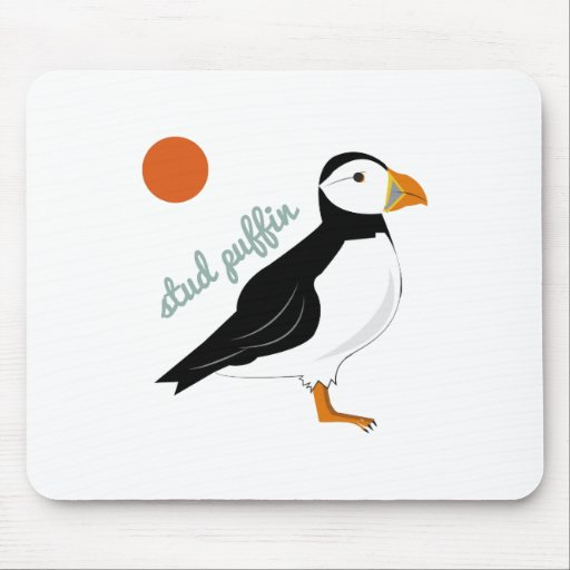 Stud Puffin Mouse Pad