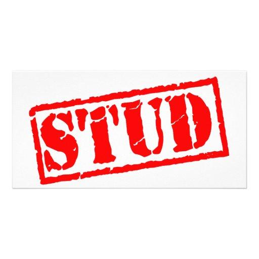 Stud Stamp Photo Card