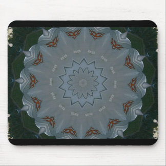 Studded Flower and Flames Mouse Pad