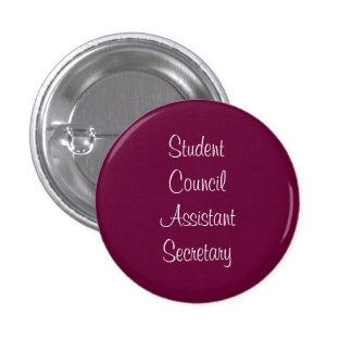 Student Council Assistant Secretary 3 Cm Round Badge
