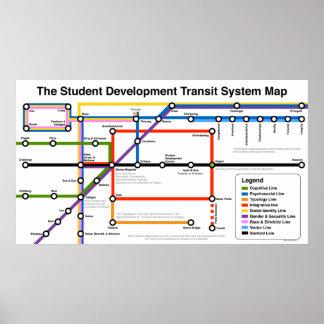 Student Development Transit System Map Print