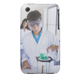 Student doing science experiment 2 Case-Mate iPhone 3 cases