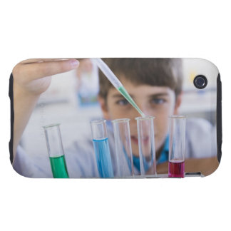Student doing science experiment 3 tough iPhone 3 covers
