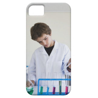 Student doing science experiment 4 iPhone 5 case