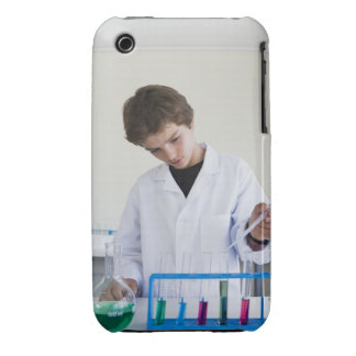 Student doing science experiment 4 iPhone 3 case