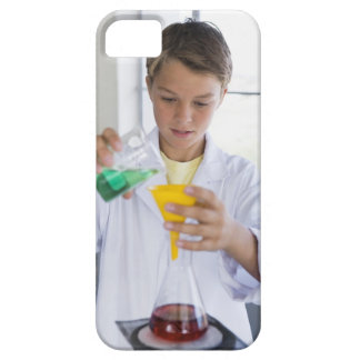 Student doing science experiment 5 iPhone 5 cases