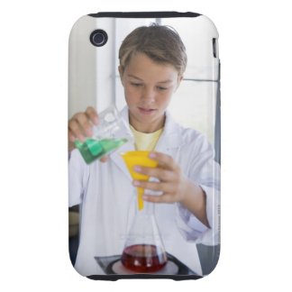 Student doing science experiment 5 tough iPhone 3 case