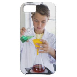 Student doing science experiment 5 tough iPhone 5 case