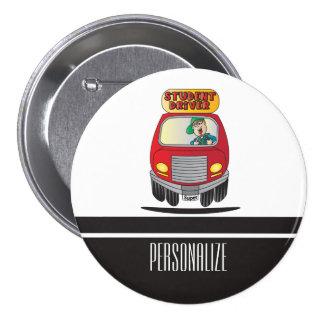Student Driver Cartoon 7.5 Cm Round Badge