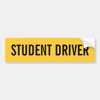 Student Driver Learning to Drive Bumper Sticker
