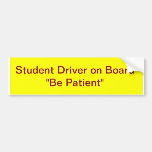 Student Driver on Board Bumper Sticker