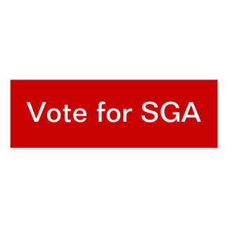 Student Government Association (SGA) Skinny Business Card