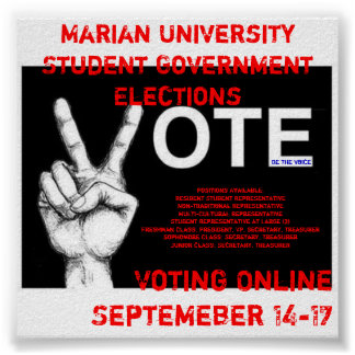 Student Government Electons Poster