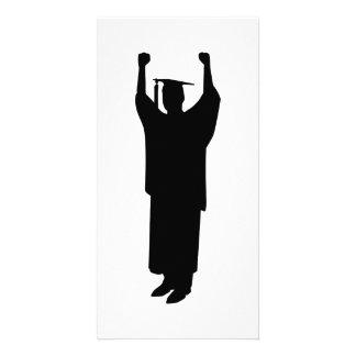 Student graduation photo card template