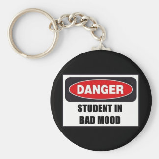 Student in Bad Mood! Basic Round Button Key Ring