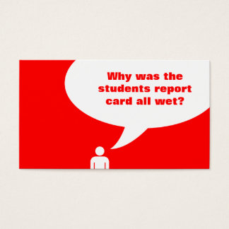 student joke (color customizable) business card