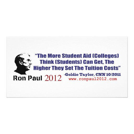 Student Loans Goldie Taylor Ron Paul 2012 Photo Cards