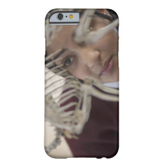 Student looking at animal skeleton barely there iPhone 6 case
