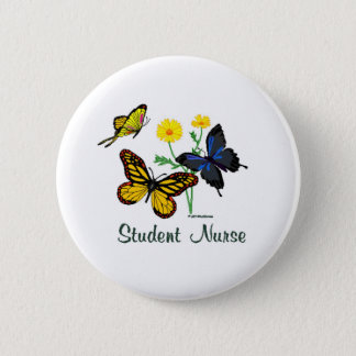 Student Nurse Butterflies 6 Cm Round Badge