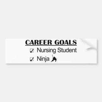 Student Nurse Ninja Career Goals Bumper Sticker