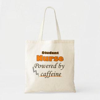 Student Nurse Powered by caffeine Budget Tote Bag