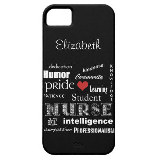 Student Nurse Pride-Attributes /Ebony Barely There iPhone 5 Case