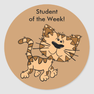 Student of the Week Stickers - Cat Walking