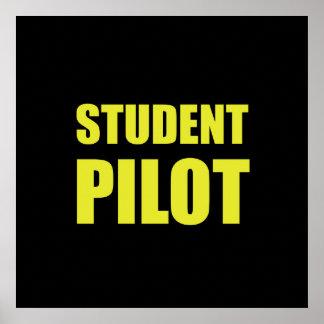 Student Pilot Caution Poster