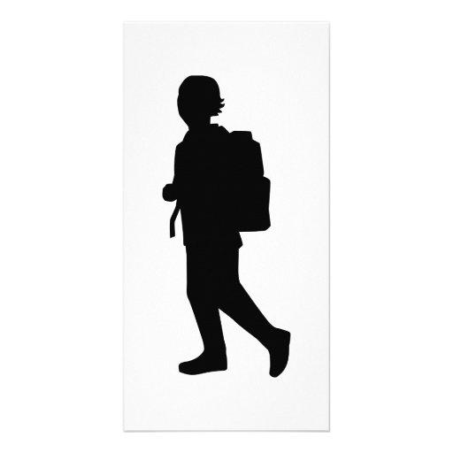 Student school kid photo card