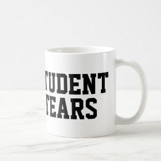 Student tears coffee mug