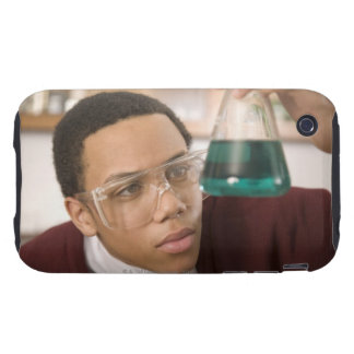 Student watching chemistry experiment tough iPhone 3 covers