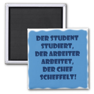 Student, worker and boss square magnet
