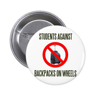 Students Against Backpacks on Wheels 6 Cm Round Badge