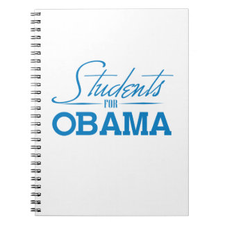 STUDENTS-FOR-OBAMA -.png Spiral Notebooks