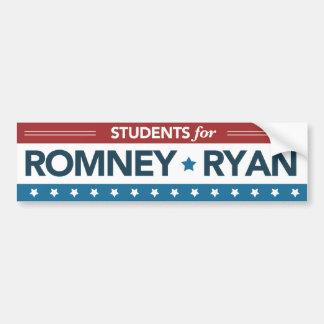 Students For Romney Ryan Bumper Sticker